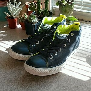 Converse All Stars Youth 6 Black Neon